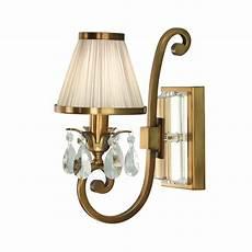 63538 oksana brass single wall light beige shade