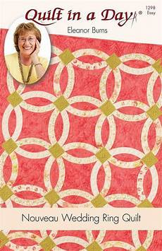 wedding ring quilt book nouveau wedding ring pattern quilt in a day eleanor burns 1298 easy ebay