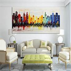 Living Room Canvas Prints 120x60cm modern city canvas abstract painting print living