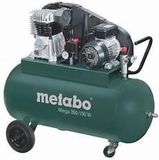 metabo kompressor mega 350 100 w 230v 90 liter 10 bar