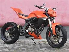 Honda Modifikasi by Modifikasi Honda Tiger 200 Jerman Style Orange