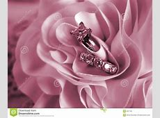 Wedding Rings Soft Mood Pink Stock Image   Image of