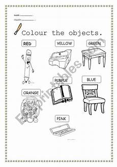 colors and school objects worksheets 12788 classroom objects and colours esl worksheet by didembilen