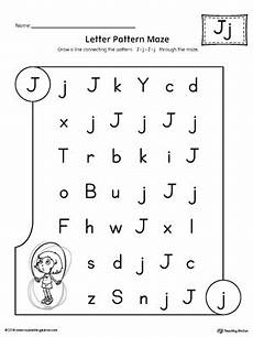 letter j pattern maze worksheet myteachingstation com