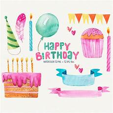 Aquarell Malvorlagen Happy Birthday Birthday Clipart Watercolor Birthday Watercolor