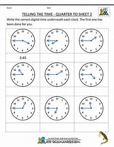 telling time worksheets quarter and half hour 2921 time worksheets telling the time quarter to 2 time worksheets telling time worksheets clock