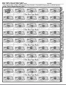 my box tops bucks collection sheet up for 50 box tops