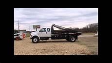 2000 Ford F750 Duty Xl Ext Cab Flatbed Dump Truck