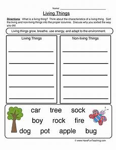 sorting living things worksheets 7894 and engaging science characteristics living things worksheet 2 sort for your classroom