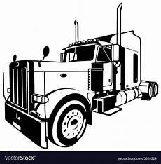 american truck royalty free vector image vectorstock