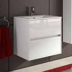 meuble de salle de bain toilette 70 cm suspendu avec evier