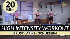 Hiit Brust Arme Tabata Workout I 20 Min