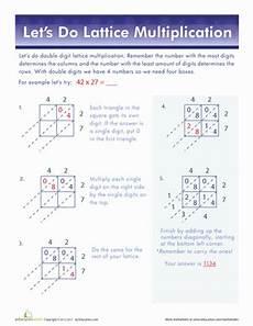 2 digit lattice multiplication school lattice multiplication multiplication worksheets