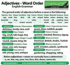 word order of adjectives before a noun english