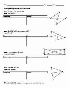 geometry worksheets triangle congruence proofs 903 triangle congruence proof geometry worksheet end of unit by pecktabo math