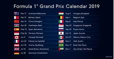 formel 1 kalender 2019 formula 1 calendar motorsport technology
