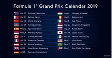 2019 Formula 1 Calendar Motorsport Technology