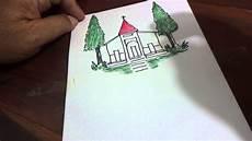 Mewarnai Sketsa Gambar Gereja Sederhana Terbaru Kataucap