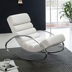 Fauteuil Relax Martina Design Exclusif En Cuir Blanc