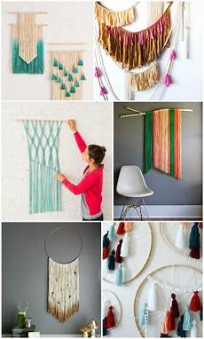 20 easy diy yarn art wall hanging ideas diy projects for