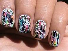 color acid wash no tools beginners nail art without