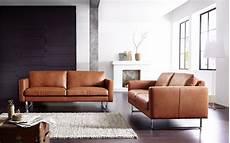 wohnzimmer braunes sofa ledersofa echte handarbeit made in germany mehr