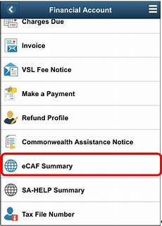 completing your ecaf or sa help form federation