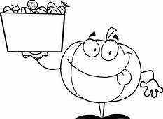 Pumpkins And Box Of Candy Coloring Page  Download & Print