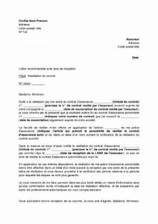 lettre de résiliation contrat d assurance resiliation d assurance auto