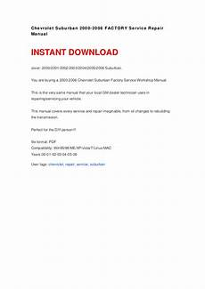 service repair manual free download 2000 chevrolet express 3500 instrument cluster chevrolet suburban 2000 2006 factory service repair manual