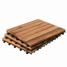 Holzfliesen 30 X 30 Cm Aus Akazienholz 1 3 M 178 Set Klicksystem