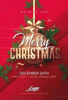 merry christmas psd templates invitation creative flyers