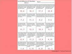 sum difference part 2 math worksheets systems of equations worksheets