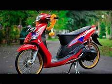 Modifikasi Motor Mio Smile by Modifikasi Mio Smile 2017 New Simple Ala Thailand