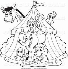 carnival of the animals coloring pages free 17385 clip black and white circus clipart of a black and white big top circus tent and animals