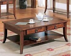 Wood And Slate Coffee Table