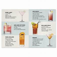 gin cocktails recipes tempered glass chopping board ebay