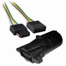 6ft trailer light wiring harness 4 flat plug wire connector 72 quot with adapter walmart com
