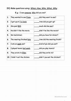 wh questions worksheets for grade 3 exercises wh question words worksheet free esl printable