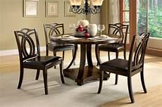 keukenhof contemporary dark walnut casual dining set with