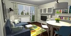 Salon W Bloku Niebieska Komoda Projektowanie Wnętrz