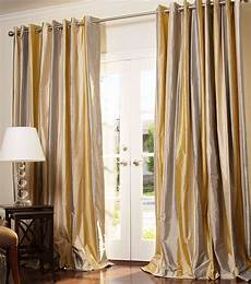 Silk Drapery Panels by Made Striped Silk Drapes And Blinds On Sale