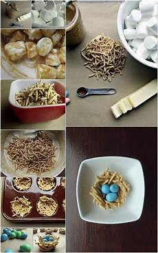 a easy easter diy crafts edible bird nest treat dump a day
