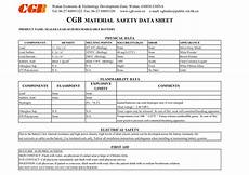 cgb material safety data sheet