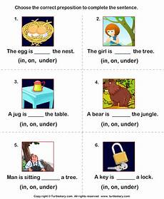 complete the sentences using in and