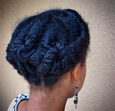 natural hair protective style updo short medium length