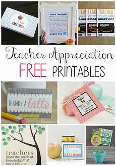teacher appreciation free printables show your kids