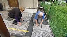 terrassenplatten auf erde verlegen 32 legen