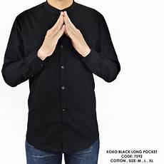 jual baju kemeja lengan panjang kerah koko warna polos jual baju kemeja lengan panjang kerah koko warna polos hitam murah di lapak fashionote1