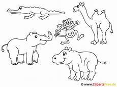 Zootiere Malvorlagen Text Zootiere Zum Ausmalen Malvor